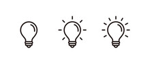 Light Bulb Icon Set, Idea Icon Symbol Vector