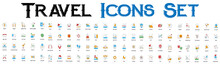 Travel Line Icons. Travel Icon Set , Tour And Travel Outline Icon Set Vector Illustration