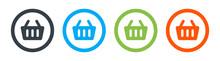 Shopping Basket Icon Vector Illustration. E-commerce Concept