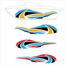 Boat Graphics, Stripe, Vinyl Ready Design