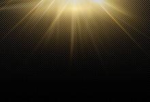 Magical Sparkling Golden Glow Effect Powerful Energy Flow Light Energy