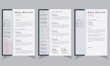 Professional Resume Template, CV Template Vector Design