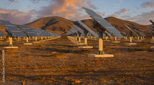 solar farm in the desert #434494099