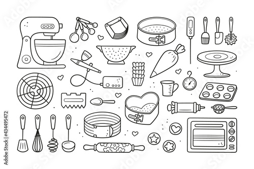 Photo A set of tools for making cakes, cookies and pastries