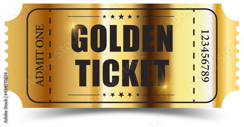 Foto Realistic golden ticket