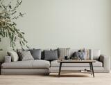 Modern interior background, wall mock up, 3d render - 434514433