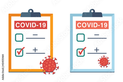 Tableau sur Toile Positve testing result of Covid-19 Icon.