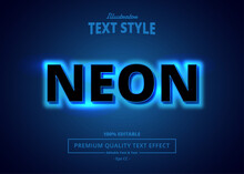 NEON Illustrator Text Effect