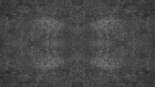 Old Dark Black Anthracite Gray Grey Vintage Shabby Patchwork Damask Ornate Motif Tiles Stone Concrete Cement Wall Wallpaper Texture Background