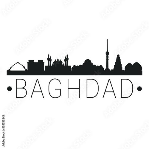 Obraz na plátne Baghdad, Iraq City Skyline