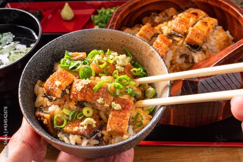 Fotografie, Obraz ひつまぶしを食べる