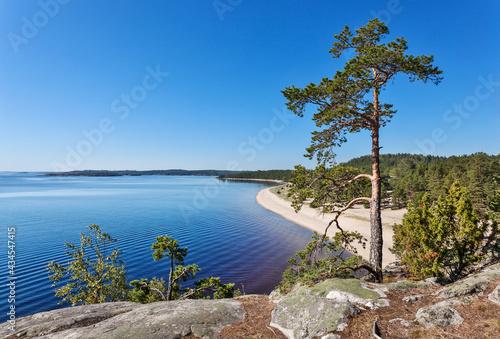Obraz na plátne Lake Ladoga skerries. Karelia. Russia