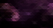Abstract Light Purple Mosaic Stained Glass Effect Hexagon Stone Gradient Texture With Triangle Geometric On Dark Black.
