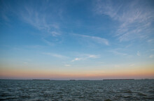 Looking At The Florida Bay From Flamingo Campground In Everglades National Park In Florida.