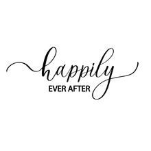Happily Ever After. Wavy Elegant Calligraphy Spelling For Decoration.