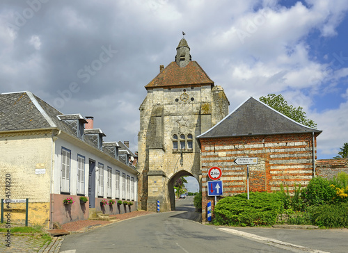 Fotografia, Obraz Lucheux, France - Belfry in Lucheux