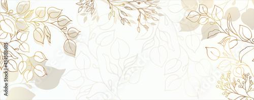 Fotografering Luxurious golden wallpaper
