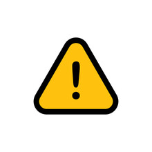 Alert Icon. Danger Symbol. Flat Vector Illustration Attention Sign With Exclamation Mark Icon. Risk Sign.