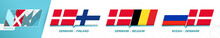 Denmark Football Team Games In Group A Of Football European Tournament 2020-21.