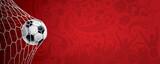 ARRIÈRE-PLAN FOOTBALL ROUGE - 434588621