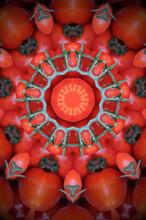 Red Kaleidoscope Of Tomatoes