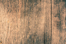 Old Wooden Wall. View Close Up