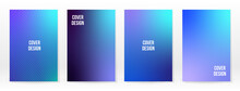 Minimal Poster. Pastel Soft. Blue Gradient Set.