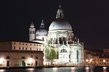 Santa Maria Della Salute Venice. Night View