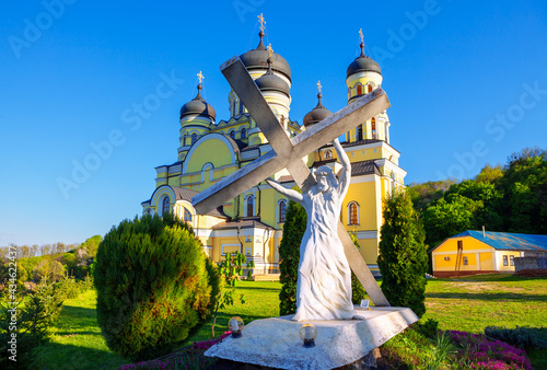 Monument of Jesus Christ with Cross Fototapet