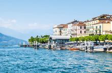 Blick Auf Bellagio Am Comer See Mit Seine Wunderschönen Altstadt, Italien