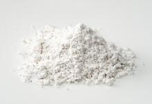 Pile Of Vanilla Sugar Closeup On White Plate
