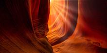 Antelope Canyon Arizona USA. Abstract Background Concept.