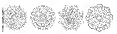 Foto Collection of floral vector mandalas