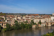 Panoramic view of the Episcopal City of Albi and the River Tarn. Albi, Midi-Pyrenees, France.