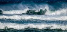 Oceans Waving Breaking In Storm At Sea