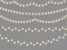 Glowing Lights Garland Christmas, Led Neon Lamp.
