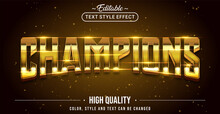 Editable Text Style Effect - Champions Text Style Theme.