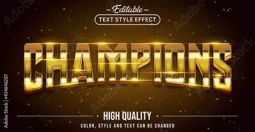 Canvas Print Editable text style effect - Champions text style theme.