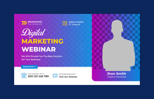 Creative Abstract Business Conference Youtube Thumbnail Template Design