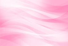 曲線の重なり アブストラクト 基調色はピンク