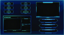 Twitch Streaming Panel Overlay Design Template Premium Vector With Different Panels