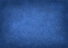 Blue Vintage Watercolor Paper Background For Product, Service Presentation. Illustration Of Dark Concrete For The Design Of A Booklet, Brochure, Flyers, Websites
