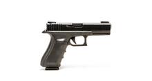 Black Pistol Or Hand Gun On White Background