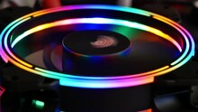 Colorful RGB LED Light Of Computer Cooling Fan For Work.