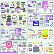 Brochure for business reports, cover layout and infographics