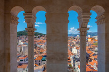 Views From Cathedral Bell Tower In Split, Croatia