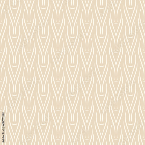 Fototapeta Abstract background pattern with simple decorative ornament backdrop on beige background, wallpaper