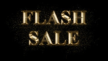 FLASH SALE, Gold Text Effect, Gold Text With Sparks, Gold Plated Text Effect