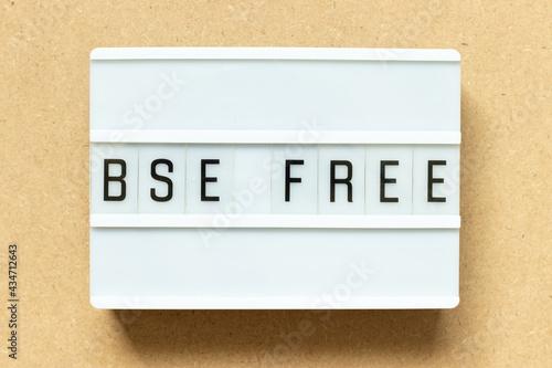 Valokuva Lightbox with word BSE (bovine spongiform encephalopathy) free on wood backgroun