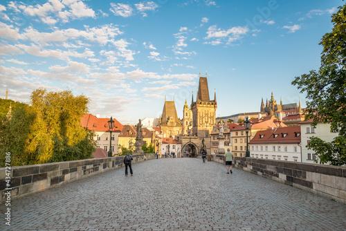 Canvastavla View of Prague, Charles bridge, Vltava river, St